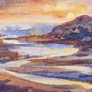 Carmarthen Bay Sunset 2
