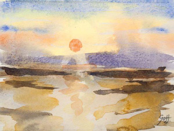 Carmarthen Bay Sunset 3